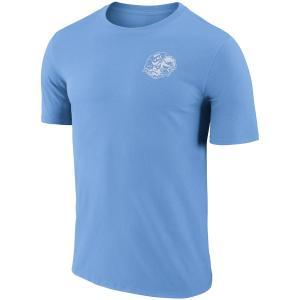ナイキ メンズ North Carolina Tar Heels Nike Performance Cotton Retro T-Shirt Tシャツ 半袖 ドライフィット Carolina Blue|troishomme