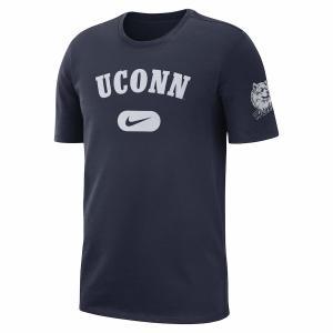 ナイキ メンズ UConn Huskies Nike Heavyweight Cotton Retro T-Shirt 半袖 Tシャツ Navy|troishomme