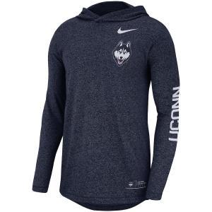 ナイキ メンズ ロンT UConn Huskies Nike Marled L/S Hooded T-Shirt Tシャツ 長袖 フード Navy|troishomme