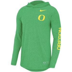 ナイキ メンズ ロンT Oregon Ducks Nike Marled L/S Hooded T-Shirt Tシャツ 長袖 Green troishomme