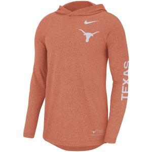 ナイキ メンズ ロンT Texas Longhorns Nike Marled L/S Hooded T-Shirt Tシャツ 長袖 フード Texas Orange|troishomme