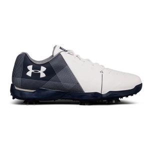 アンダーアーマー キッズ/ジュニア Under Armour Spieth 2 Golf Shoes ゴルフシューズ White/Academy ジョーダンスピース|troishomme