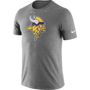 ナイキ メンズ NFL Minnesota Vikings Nike Essential Logo Dri-FIT Cotton T-Shirt 半袖 Tシャツ ドライフィット Heather Charcoal|troishomme