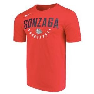 ナイキ メンズ NCAA カレッジ Tシャツ Gonzaga Bulldogs Nike Basketball School Name Performance T-Shirt Red|troishomme