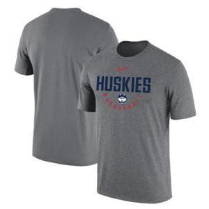ナイキ メンズ NCAA カレッジ Tシャツ UConn Huskies Nike Basketball Cotton Performance T-Shirt Heathered Gray|troishomme