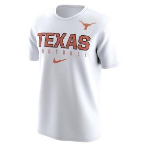 ナイキ メンズ Texas Longhorns Nike Football Practice Performance T-Shirt 半袖 Tシャツ ドライフィット White|troishomme