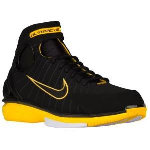 ナイキ メンズ コービー Nike Air Zoom Huarache 2K4 バッシュ エアズーム ハラチ Black/Black/Varsity Maize/White|troishomme