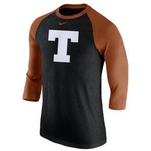 ナイキ メンズ Tシャツ Nike College 3/4 Tri-Blend T-Shirt 七分袖 ラグラン カレッジ NCAA Texas Longhorns Multi|troishomme