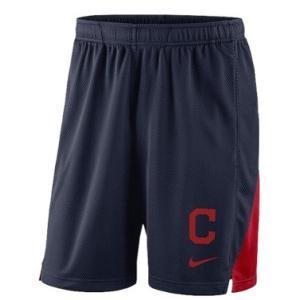 ナイキ メンズ Nike MLB Franchise Knit Shorts ショーツ ハーフパンツ Cleveland Indians | Navy|troishomme