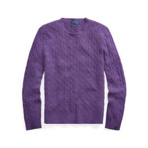 ラルフローレン メンズ Polo Ralph Lauren Cable-Knit Cashmere Sweater 長袖 カシミア セーター MORGAN PURPLE HEATHER troishomme