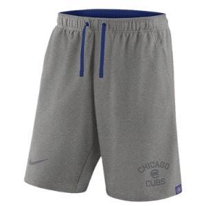 ナイキ メンズ Nike MLB Flux Game Shorts ショーツ ハーフパンツ Chicago Cubs | Dark Grey Heather|troishomme