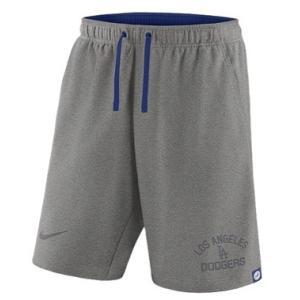ナイキ メンズ Nike MLB Flux Game Shorts ショーツ ハーフパンツ Los Angeles Dodgers | Dark Grey Heather|troishomme