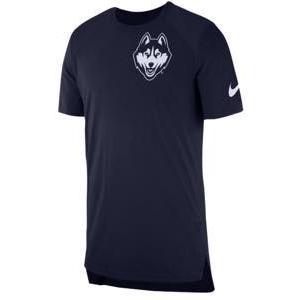 ナイキ メンズ Tシャツ Nike College S/S Shooter Shirt カレッジ NCAA Uconn Huskies College Navy|troishomme
