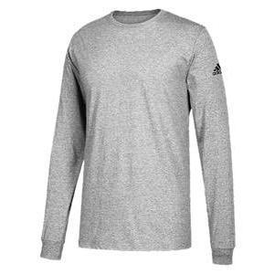 アディダス メンズ ロンT adidas Athletics Badge Of Sport Classic L/S T-Shirt ロングスリーブ Tシャツ パフォーマンス Medium Grey Heather|troishomme