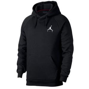 ジョーダン メンズ Jordan Jumpman Air Fleece Pullover Hoodie パーカー 長袖 Black/White プルオーバー|troishomme