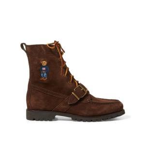 ラルフローレン メンズ Polo Ralph Lauren Ranger Polo Bear Suede Boot Sneaker スニーカー シューズ BROWN|troishomme