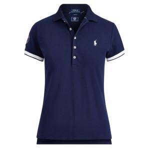 ラルフローレン ポロシャツ レディース/ウーマン Wimbledon Slim Fit Polo French Navy ウィンブルドン Polo Shirt|troishomme