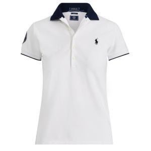 ラルフローレン ポロシャツ レディース/ウーマン Wimbledon Slim Fit Polo White ウィンブルドン Polo Shirt|troishomme