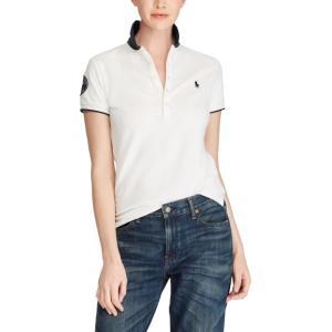 ラルフローレン ポロシャツ レディース/ウーマン Wimbledon Slim Fit Polo White ウィンブルドン Polo Shirt|troishomme|02