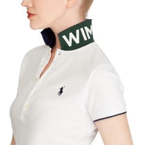 ラルフローレン ポロシャツ レディース/ウーマン Wimbledon Slim Fit Polo White ウィンブルドン Polo Shirt|troishomme|04