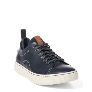 ラルフローレン メンズ シューズ POLO Ralph Lauren Dunovin Leather Sneaker スニーカー NEWPORT NAVY|troishomme