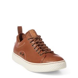 ラルフローレン メンズ シューズ POLO Ralph Lauren Dunovin Leather Sneaker スニーカー POLO TAN|troishomme