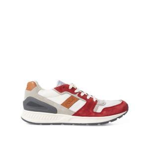 ラルフローレン メンズ シューズ POLO Ralph Lauren Train 100 Suede-Mesh Sneaker スニーカー STAMFORD RED|troishomme