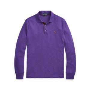 ラルフローレン メンズ Polo Ralph Lauren Custom Slim Long-Sleeve Polo ポロシャツ 長袖 MORGAN PURPLE HEATHER troishomme