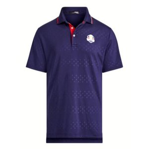 ポロ ラルフローレン メンズ Polo Ralph Lauren RLX U.S. Ryder Cup Team Polo Shirt ポロシャツ 半袖 FRENCH NAVY|troishomme