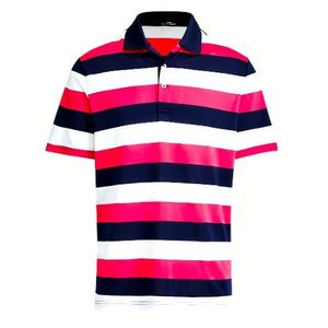ポロ ラルフローレン メンズ Polo Ralph Lauren RLX x Billy Horschel Polo Shirt ポロシャツ 半袖 FR NAVY/WHITE/EXOTIC PINK|troishomme
