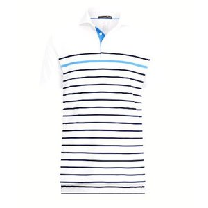 ポロ ラルフローレン メンズ Polo Ralph Lauren RLX x Billy Horschel Polo Shirt ポロシャツ 半袖 WHITE/FRNAVY/BERMUDA BLUE|troishomme