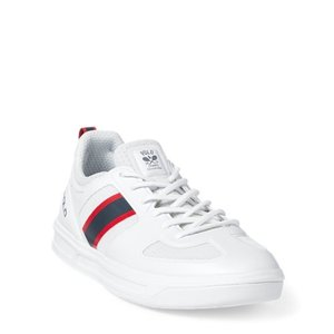 ラルフローレン メンズ シューズ POLO Ralph Lauren US Open Court 200 Sneaker スニーカー WHITE/NAVY/RED|troishomme