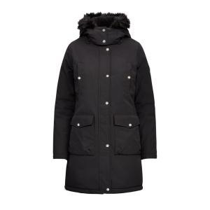 ラルフローレン レディース/ウーマン Polo Ralph Lauren Faux-Fur-Trim Hooded Coat ジャケット コート BLACK|troishomme