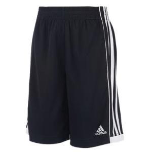アディダス ボーイズ / キッズ adidas Three Stripes Shorts バスパン ショーツ ハーフパンツ Black/White|troishomme