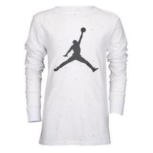 ジョーダン ボーイズ/キッズ Tシャツ Jordan Speckle Long Sleeve T-Shirt 半袖 ミニバス White/Black Speckle|troishomme