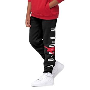 ジョーダン キッズ Kids Jordan Jumpman Air Fleece Pants スウェット ロング パンツ Black/Gym Red/White|troishomme