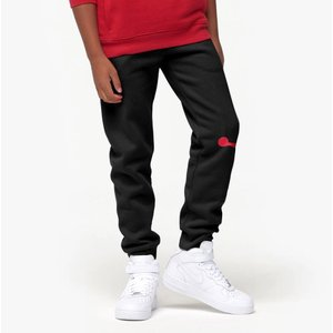 ジョーダン キッズ Kids Jordan Jumpman Air Fleece Pants スウェット ロング パンツ Black/Gym Red/White|troishomme|02