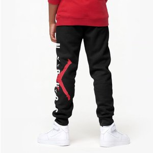 ジョーダン キッズ Kids Jordan Jumpman Air Fleece Pants スウェット ロング パンツ Black/Gym Red/White|troishomme|03