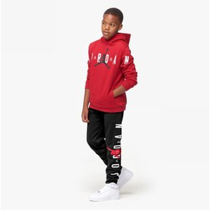 ジョーダン キッズ Kids Jordan Jumpman Air Fleece Pants スウェット ロング パンツ Black/Gym Red/White|troishomme|04