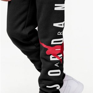 ジョーダン キッズ Kids Jordan Jumpman Air Fleece Pants スウェット ロング パンツ Black/Gym Red/White|troishomme|05