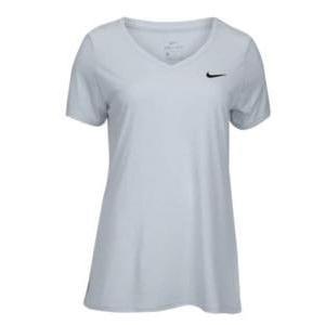 ナイキ レディース/ウーマン Nike Team Short Sleeve V-Neck Legend T-Shirt 半袖 Tシャツ Heathered White/Black troishomme
