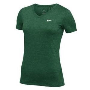 ナイキ レディース/ウーマン Nike Team Short Sleeve V-Neck Legend T-Shirt 半袖 Tシャツ Dark Green/White troishomme