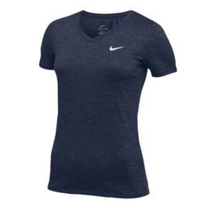 ナイキ レディース/ウーマン Nike Team Short Sleeve V-Neck Legend T-Shirt 半袖 Tシャツ Navy/White troishomme