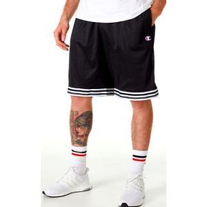 チャンピオン メンズ ショーツ Champion Life Basketball Shorts バスパン Black/White|troishomme