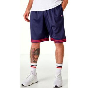 チャンピオン メンズ ショーツ Champion Life Basketball Shorts バスパン Navy/Red|troishomme
