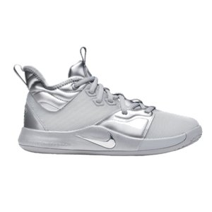 ナイキ キッズ/レディース Nike PG 3 GS バッシュ ポール・ジョージ ミニバス Reflect Silver/Reflect Silver|troishomme