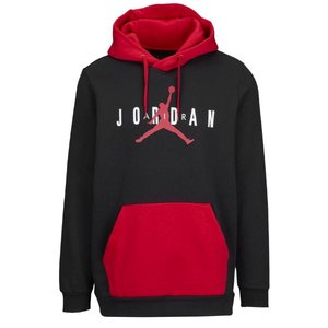 ジョーダン メンズ Jordan Jumpman Air Fleece Pullover Hoodie パーカー Black/Gym Red/White プルオーバー|troishomme