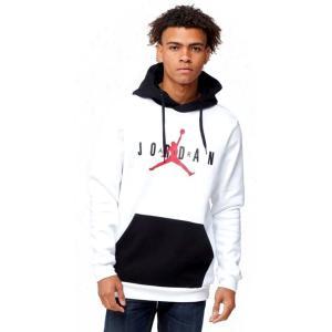 ジョーダン メンズ Jordan Jumpman Air Fleece Pullover Hoodie パーカー White/Black/Gym Red プルオーバー|troishomme