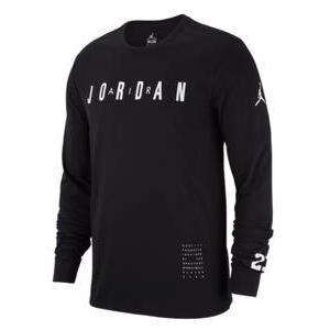 ジョーダン メンズ ロンT Tシャツ Jordan Basketball Long Sleeve T-Shirt ナイキ NIKE Black/White|troishomme