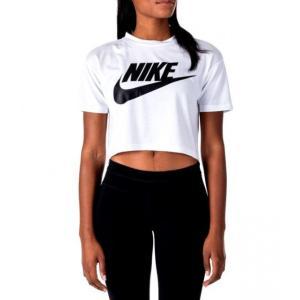 ナイキ レディース Nike Essential Crop T-Shirt クロップド Tシャツ 半袖 White/Black troishomme